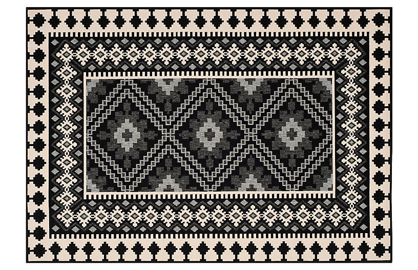 Pierce Outdoor Rug Black Outdoor Rugs Rugs One Kings Lane