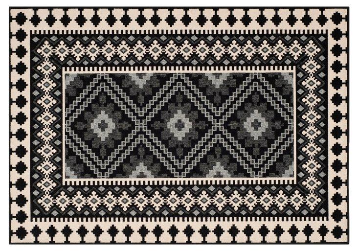 Pierce Outdoor Rug, Black