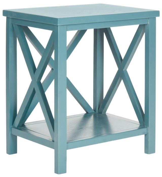 Beckett Side Table, Blue