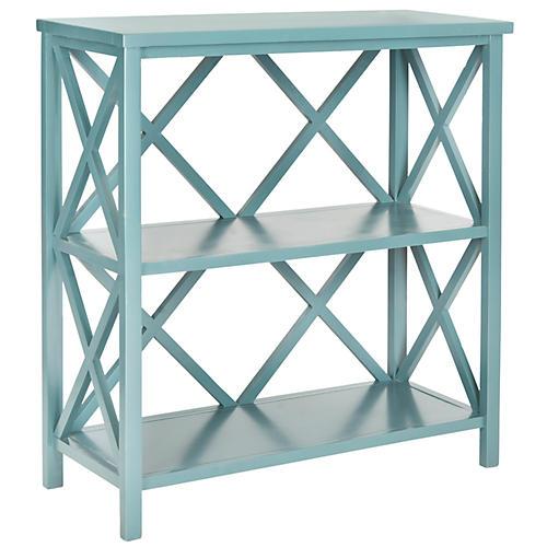 "Hadley 33.5"" Bookshelf, Blue"