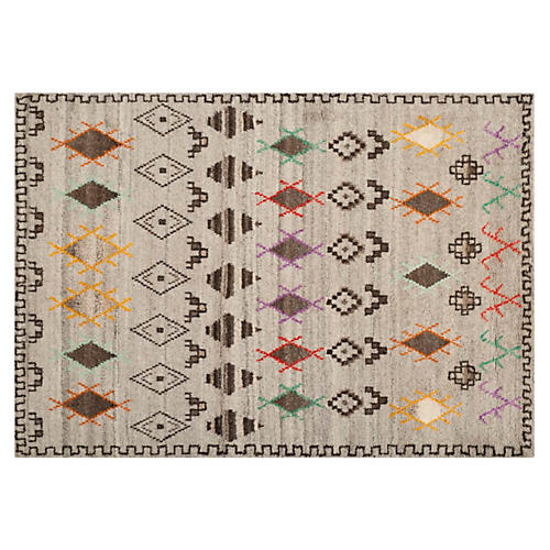 Aleen Rug, Natural/Multi