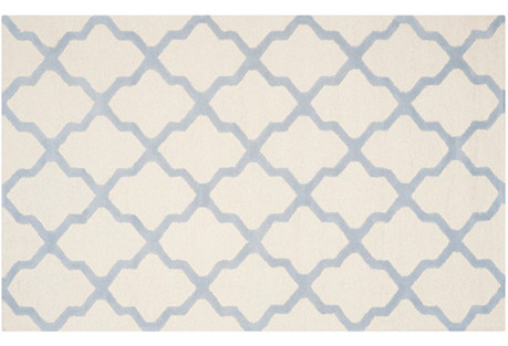 Mulberry Rug, Light Blue
