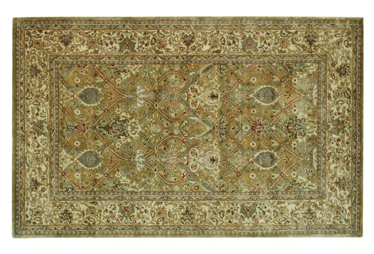 5'x8' Oval Turner Rug, Light Green