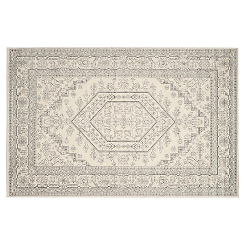 Forester Rug, Ivory/Silver
