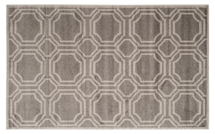Anenome Outdoor Rug, Gray