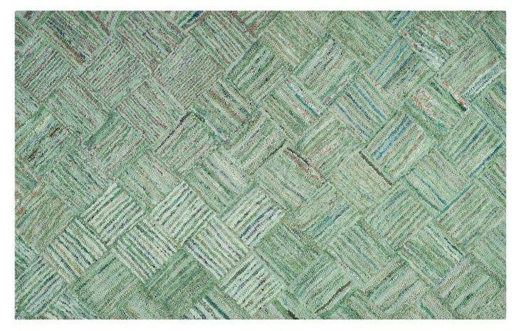 Jeremy Rug, Green/Multi