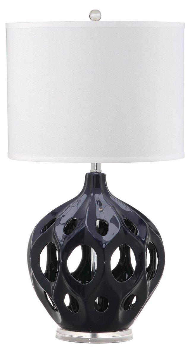 Regina Table Lamp, Navy Blue