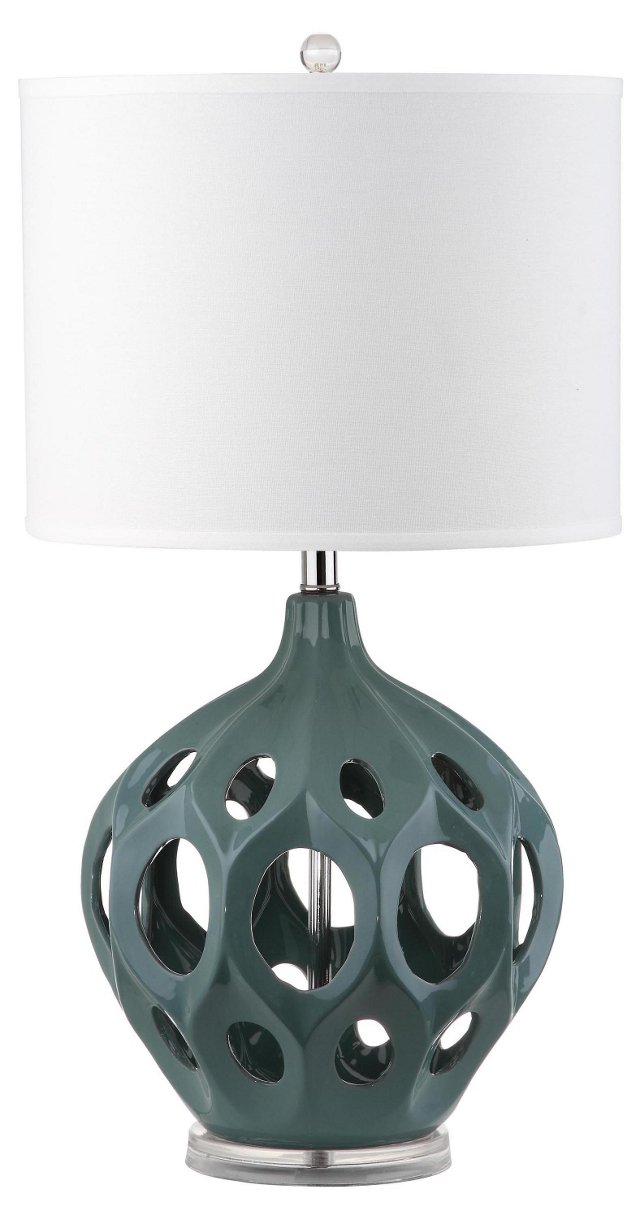 Regina Table Lamp, Blue