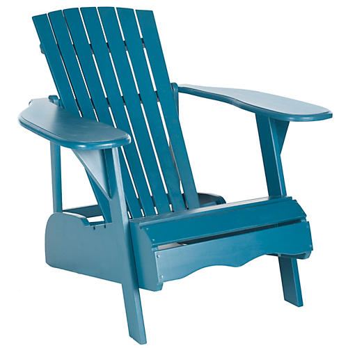 Outdoor Mopani Chair, Blue