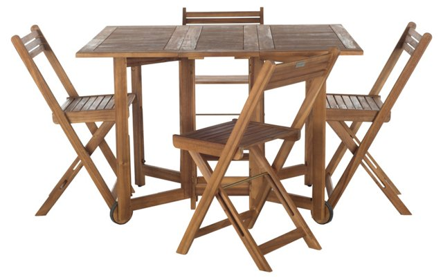 Arvin Table & Chairs Set, Teak