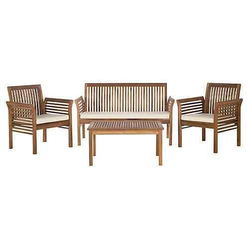 Carson 4-Pc Lounge Set, Natural