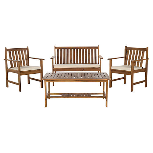 Outdoor Burbank 4-Pc Set, Natural