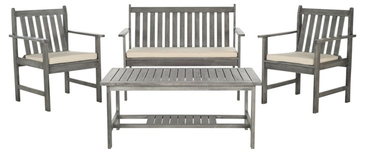 Burbank 4-Pc Outdoor Set, Gray