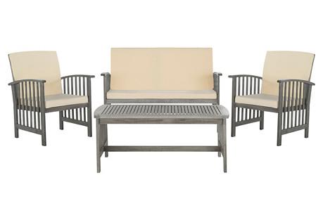 Rocklin 4-Pc Outdoor Set, Gray