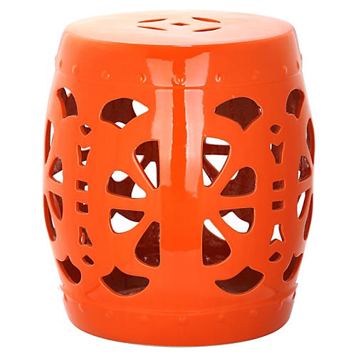 Abigail Garden Stool, Orange