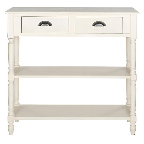 Sandra 3-Drawer Console, White