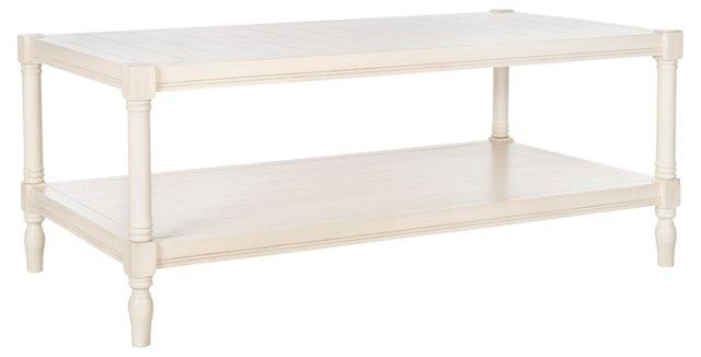 Bennett Coffee Table, White