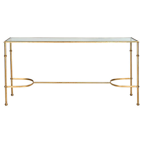 """Lucy 63"""" Console, Gold"""