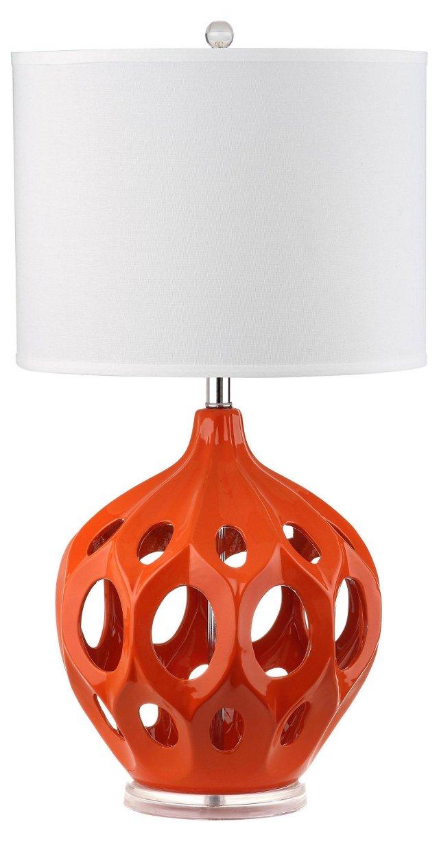 Regina Table Lamp, Orange