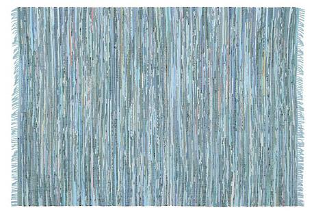 Elsa Flat-Weave Rug, Blue