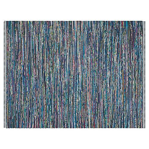 Elsa Flat-Weave Rug, Ink/Multi