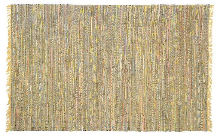 Elsa Flat-Weave Rug, Yellow/Multi