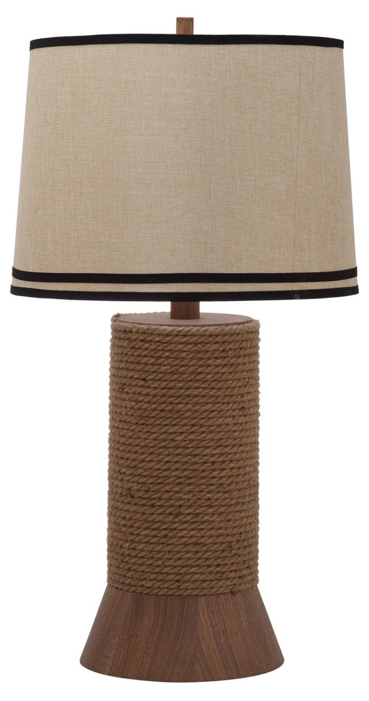 Alex Bay Table Lamp, Natural Linen