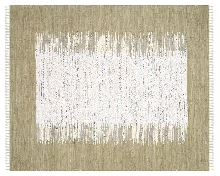 Cay Flat-Weave Rug, Ivory/Olive