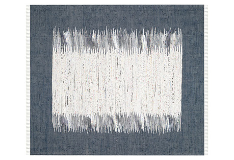 Cay Flat-Weave Rug, Navy