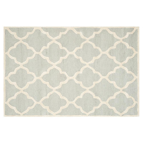 Kissa Rug, Light Gray