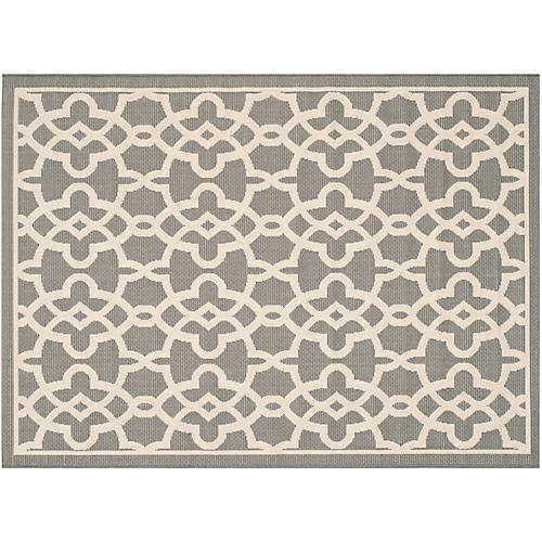 Lilan Outdoor Rug, Gray/Beige