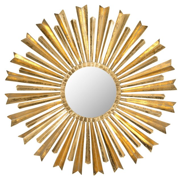 Morgan Sunburst Wall Mirror, Gold