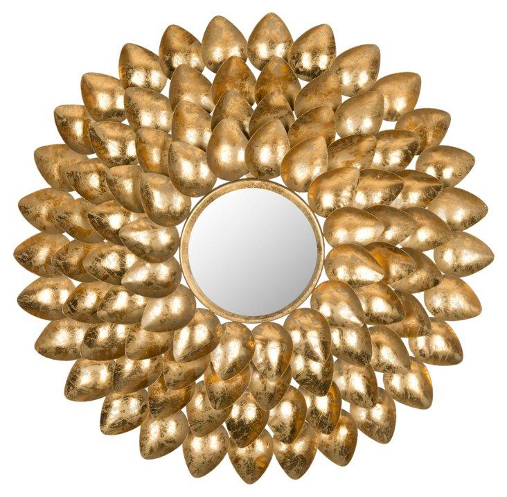 Mikayla Sunburst Wall Mirror, Gold