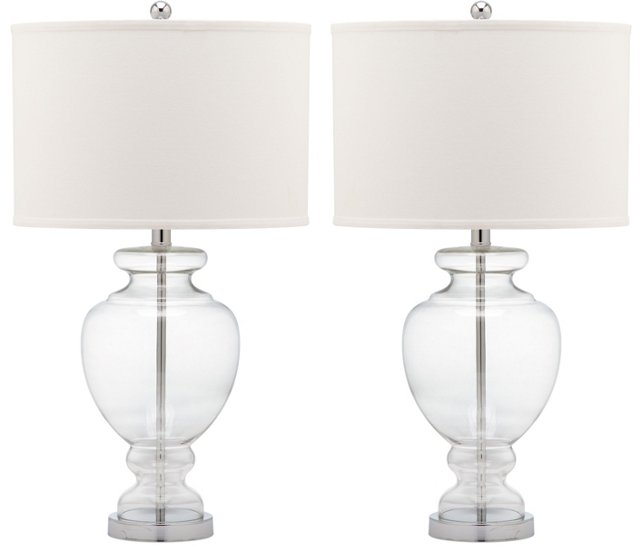 Landon Table Lamp Set, Clear