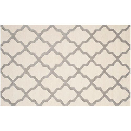 Mulberry Rug, Ivory/Silver