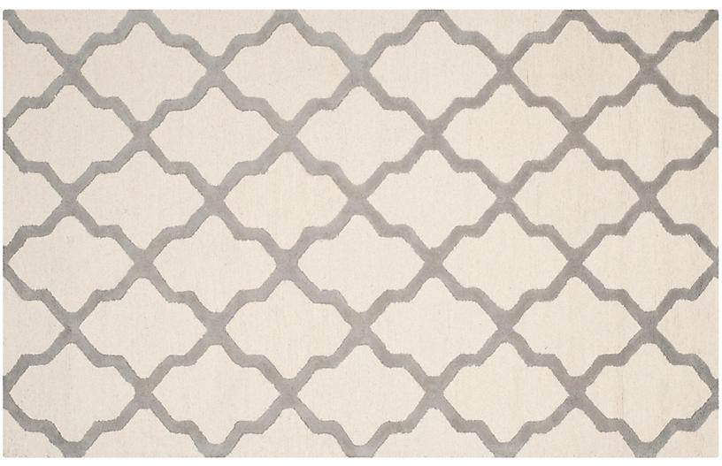 Mulberry Rug - Ivory/Silver