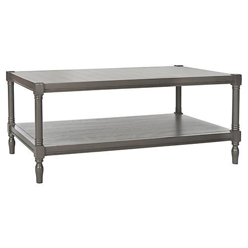 Bennett 2-Shelf Coffee Table, Gray