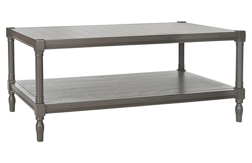 Bennett 2-Shelf Coffee Table - Gray