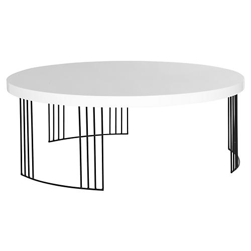 Bailey Coffee Table, White
