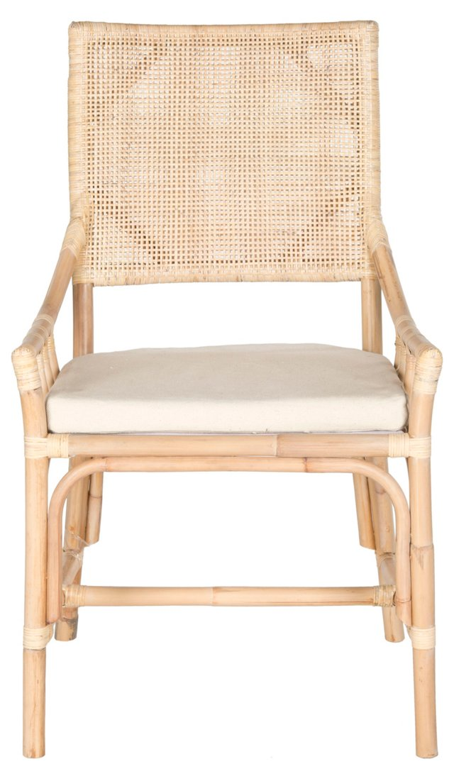 Marie Armchair, Natural/Ivory