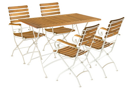 Outdoor Plymouth Dining Set, Natural