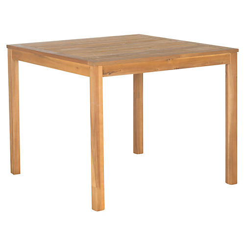 """Outdoor 23"""" Yarry Dining Table, Natural"""