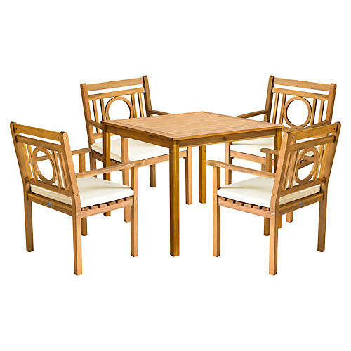 Montclair Dining Set, Natural