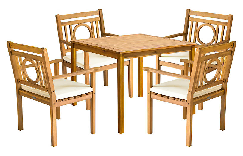 Outdoor Marion Dining Set - Natural
