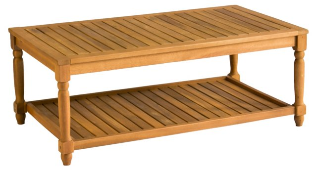 "Outdoor Lovell 43"" Coffee Table, Natural"