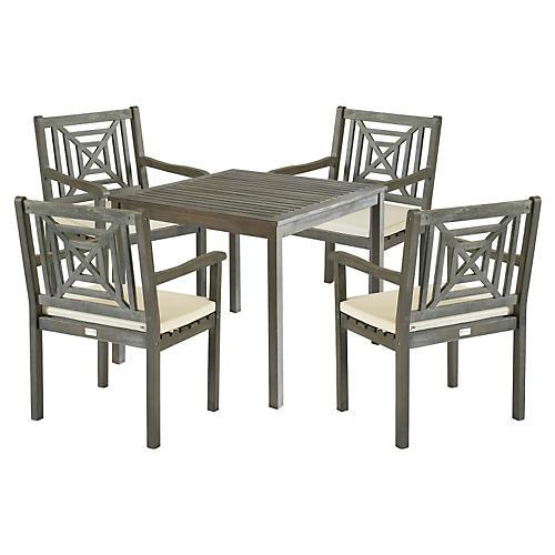 Del Mar Dining Set, Gray