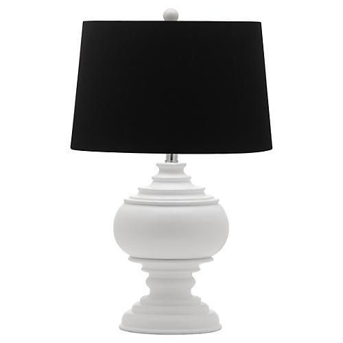 Callaway Table Lamp, White