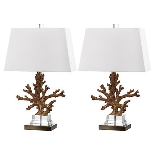 Bashi Table Lamp, Gold
