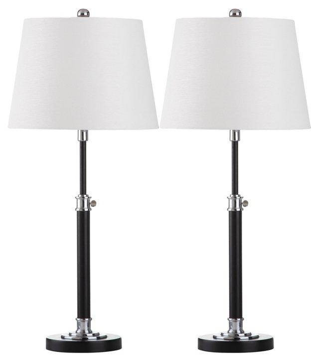Jonas Table Lamp Set, Black