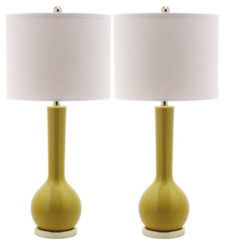 Ava Table Lamp Set, Yellow